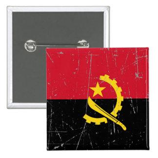 Bandera angolana rascada y rasguñada pin