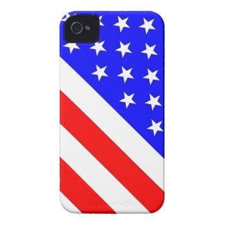Bandera angulosa 2 de las barras y estrellas Case-Mate iPhone 4 cárcasa