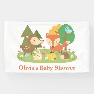 Bandera animal de la fiesta de bienvenida al bebé lona