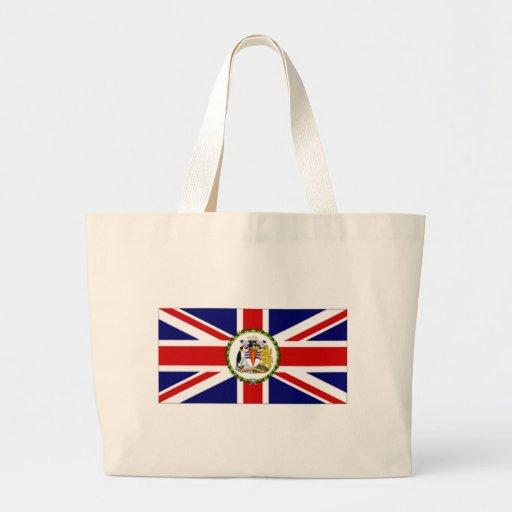 Bandera antártica británica del territorio bolsa tela grande