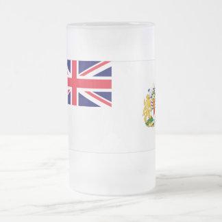 Bandera antártica británica del territorio taza de cristal