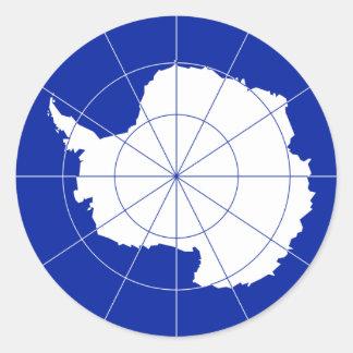 Bandera antártica del tratado. La Antártida Pegatina Redonda