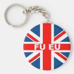Bandera anti de la UE Británicos Llavero Personalizado