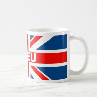 Bandera anti de la UE Británicos Taza