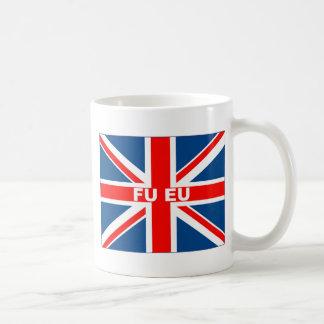 Bandera anti de la UE Británicos Tazas De Café