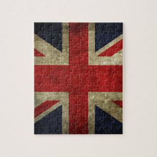 Bandera antigua real británica de Union Jack Rompecabezas