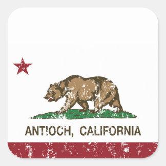 Bandera Antioch del estado de California Pegatina Cuadrada