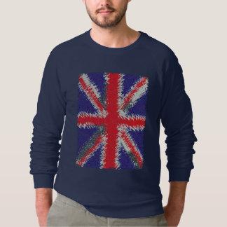 Bandera apenada Británicos de Union Jack Remera