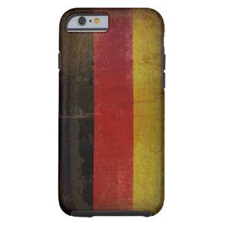Bandera apenada de Alemania Funda De iPhone 6 Tough