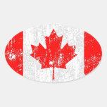 Bandera apenada de Canadá