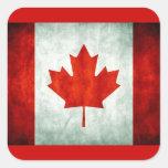 Bandera apenada de Canadá Pegatinas Cuadradas Personalizadas