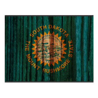 Bandera apenada de Dakota del Sur Tarjeta Postal