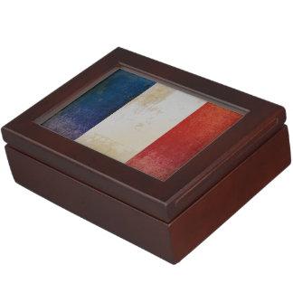 Bandera apenada de Francia Cajas De Recuerdos