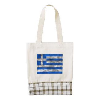 Bandera apenada de Grecia Bolsa Tote Zazzle HEART