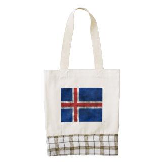 Bandera apenada de Islandia