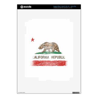 Bandera apenada de la república de California Pegatina Skin Para iPad 3