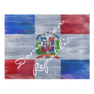 Bandera apenada de la República Dominicana Tarjeta Postal