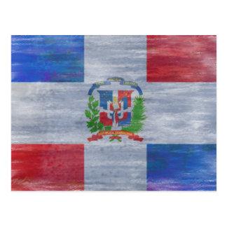 Bandera apenada de la República Dominicana Tarjetas Postales