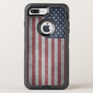 Bandera apenada de los Estados Unidos Funda OtterBox Defender Para iPhone 7 Plus