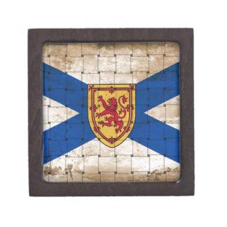 Bandera apenada de Nueva Escocia Cajas De Joyas De Calidad