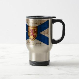Bandera apenada de Nueva Escocia Taza De Viaje