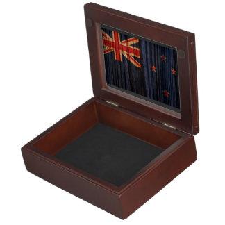 Bandera apenada de Nueva Zelanda Cajas De Recuerdos