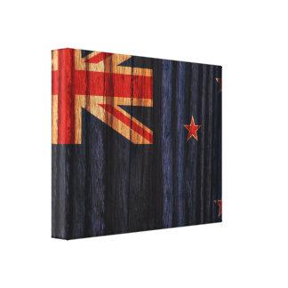 Bandera apenada de Nueva Zelanda Lona Estirada Galerías