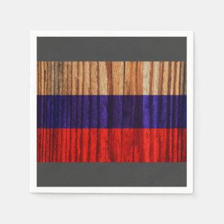Bandera apenada de Rusia Servilletas De Papel