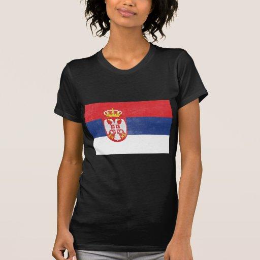 Bandera apenada de Serbia Camisetas