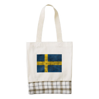 Bandera apenada de Suecia Bolsa Tote Zazzle HEART