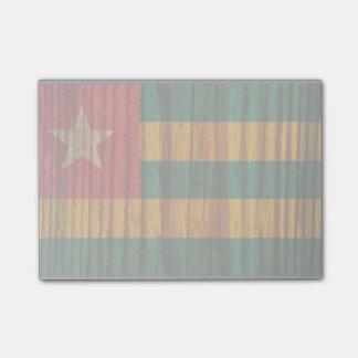 Bandera apenada de Togo Nota Post-it®