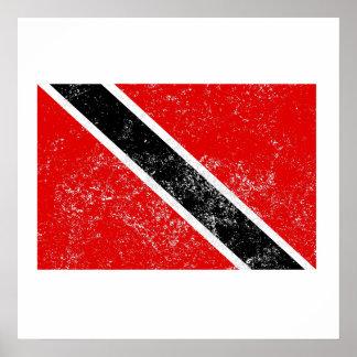 Bandera apenada de Trinidad and Tobago Posters