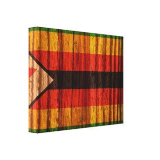 Bandera apenada de Zimbabwe Impresion En Lona