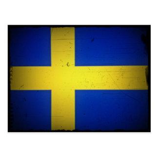 Bandera apenada del sueco de la imagen postales