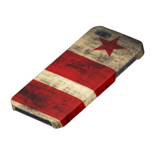 Bandera apenada del Washington DC iPhone 5 Protector