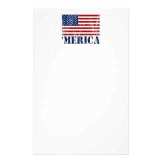 Bandera apenada 'MERICA de los E.E.U.U. Papeleria De Diseño