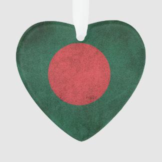 Bandera apenada vintage de Bangladesh