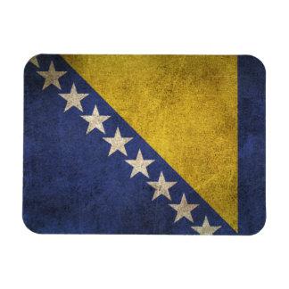 Bandera apenada vintage de Bosnia y Hercegovina Imán