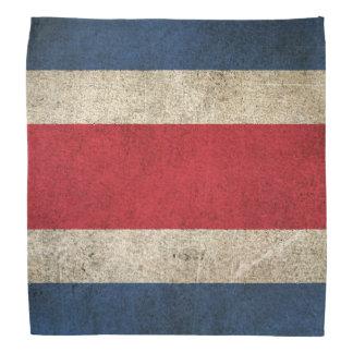 Bandera apenada vintage de Costa Rica Bandana