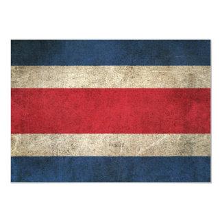 """Bandera apenada vintage de Costa Rica Invitación 5"""" X 7"""""""