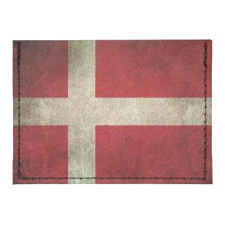 Bandera apenada vintage de Dinamarca Tarjeteros Tyvek®