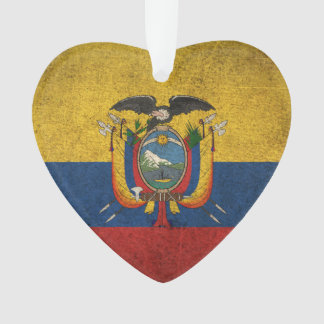 Bandera apenada vintage de Ecuador
