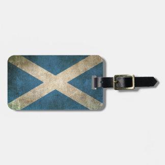 Bandera apenada vintage de Escocia Etiqueta De Maleta