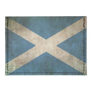Bandera apenada vintage de Escocia Tarjeteros Tyvek®