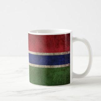 Bandera apenada vintage de Gambia Taza De Café