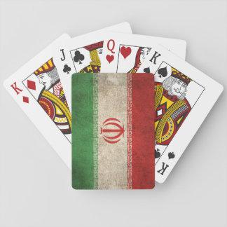 Bandera apenada vintage de Irán Barajas De Cartas