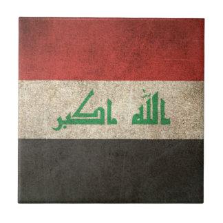 Bandera apenada vintage de Iraq Azulejo Cuadrado Pequeño