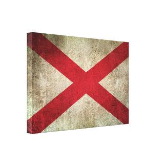 Bandera apenada vintage de Irlanda del Norte Impresiones En Lienzo Estiradas