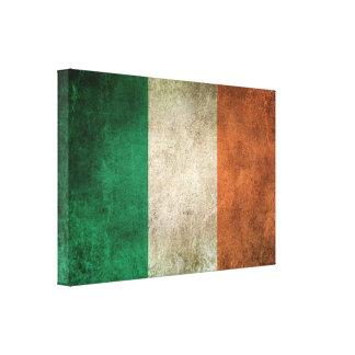 Bandera apenada vintage de Irlanda Impresiones De Lienzo