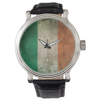 Bandera apenada vintage de Irlanda Relojes